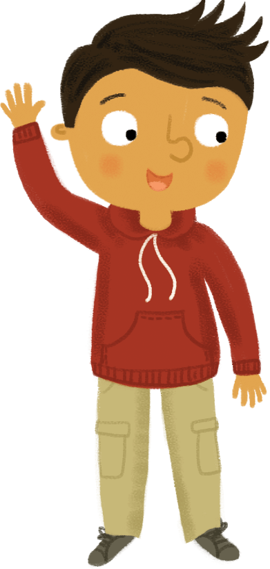 Illustration: boy waving