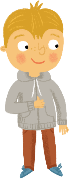 Illustration: boy wearing hoodie top