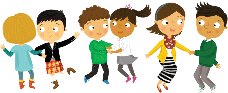 Illustration: Children dancing
