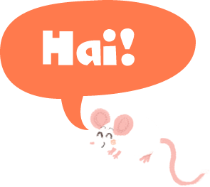 Illustration: mouse saying hi