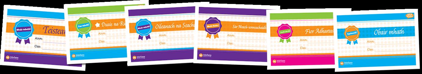 Go!Gaelic Certificates